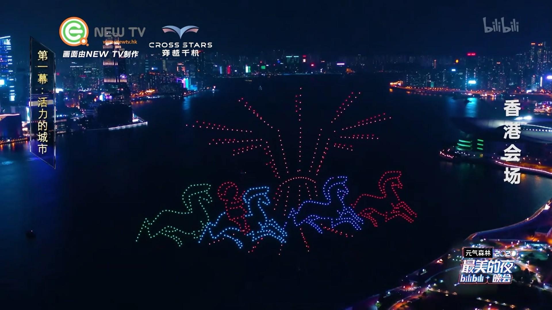 香港无人机表演|穿越千机|无人机表演
